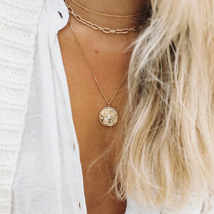 KIRSTIN ASH  - BY THE SEA COIN NECKLACE (18K-GOLD-VERMEIL)