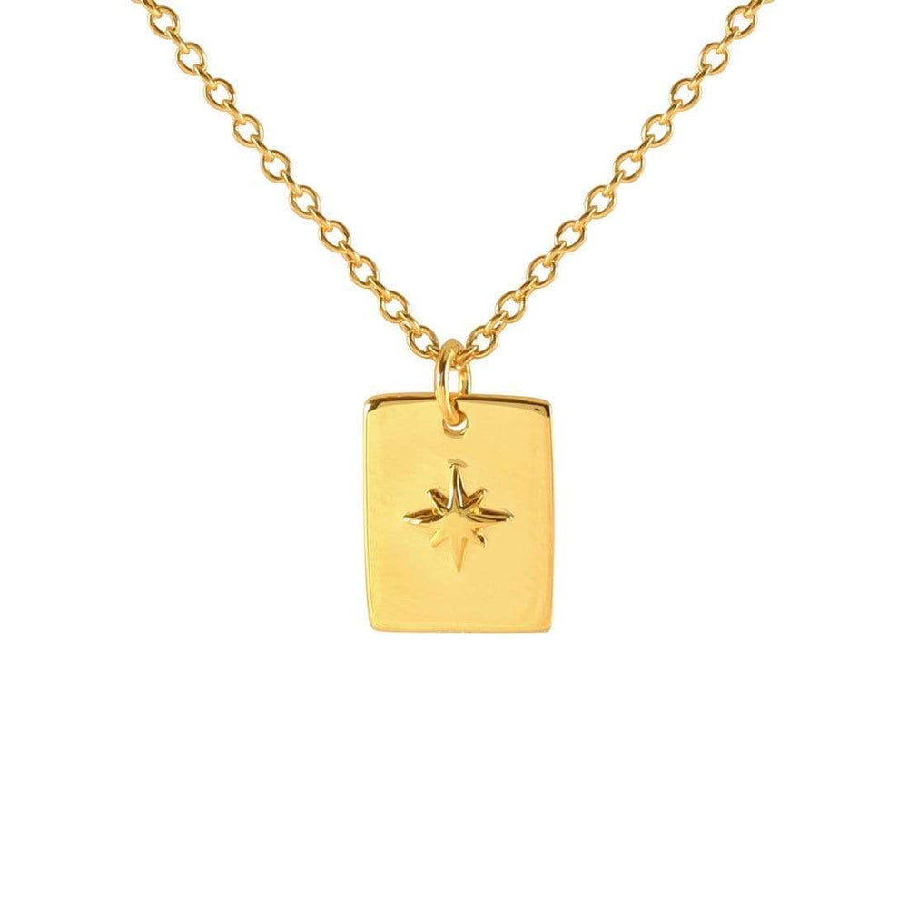 Midsummer Star - Gold Celestial Medallion Necklace