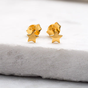 Midsummer Star - Gold Astra Star Studs