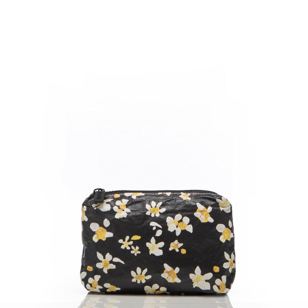 // Le MU- // Le MU x Salt Gypsy Mini Pouch In Black Daisy