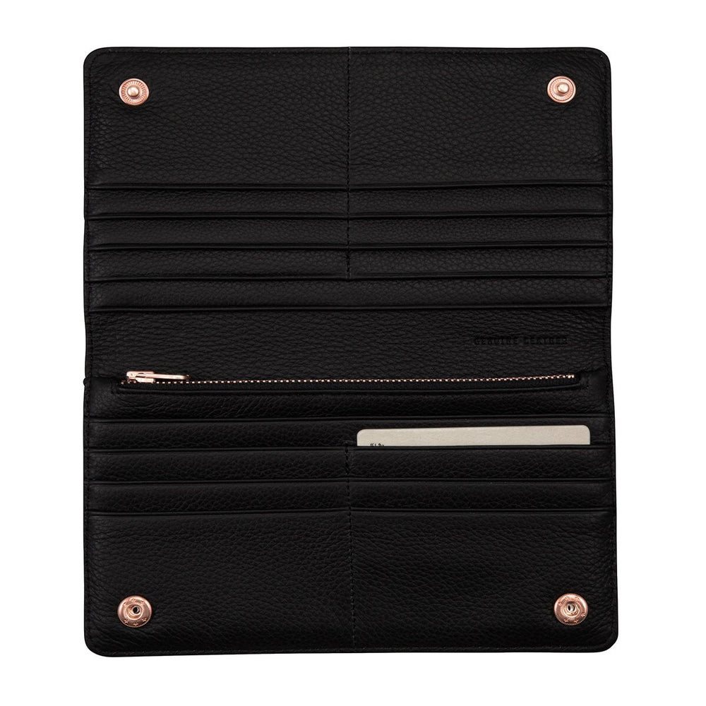 Status Anxiety - Triple Threat Wallet in Black