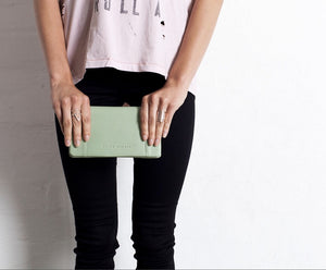 Some Type Of Love Wallet - Mint Green by Status Anxiety