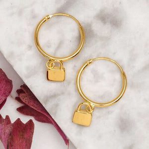 Midsummer Star - Padlock Sleepers in Gold