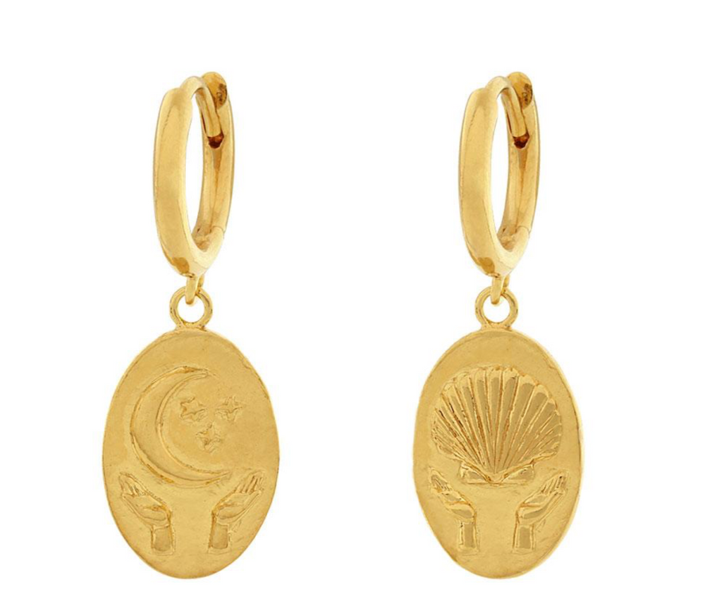 Load image into Gallery viewer, Midsummer Star - 18K Gold Trust Earrings