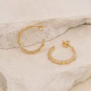 By Charlotte - Gold Enlightened Hoops