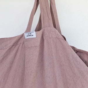 Load image into Gallery viewer, Dos Ombré - 100% LINEN MARKET TOTE | Rosewood