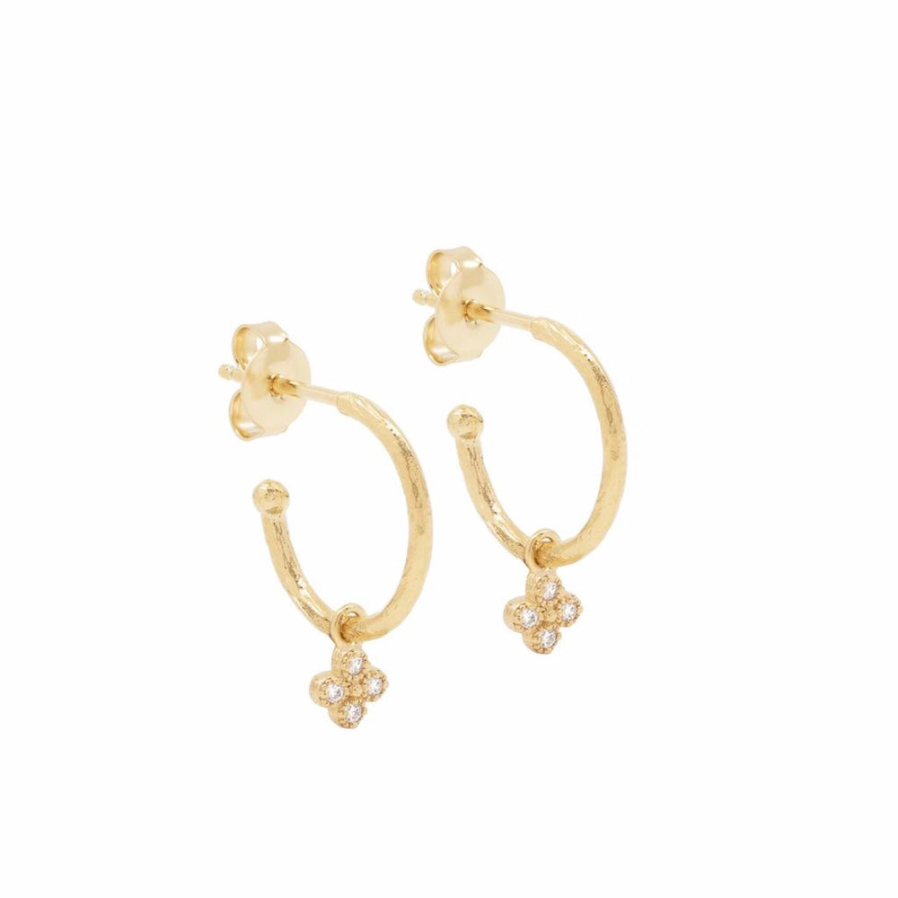 By Charlotte - Luminous Hoop Earrings In Gold