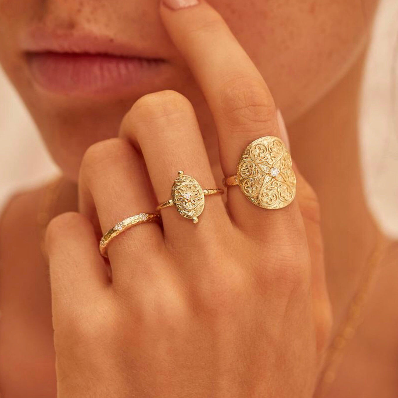 By Charlotte - Path Of Life Ring In Gold