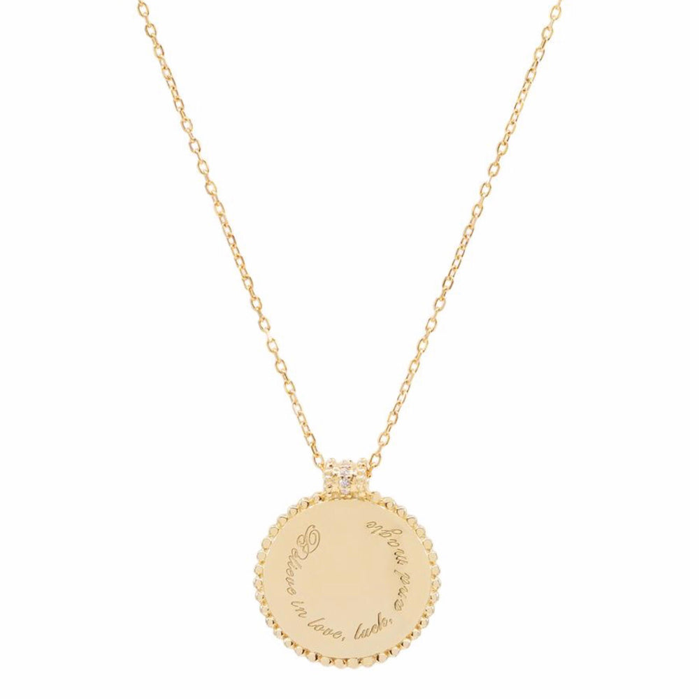 By Charlotte - Believe in Luck Necklace In Gold