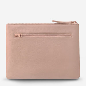 Status Anxiety - Fake It Clutch in Dusty Pink