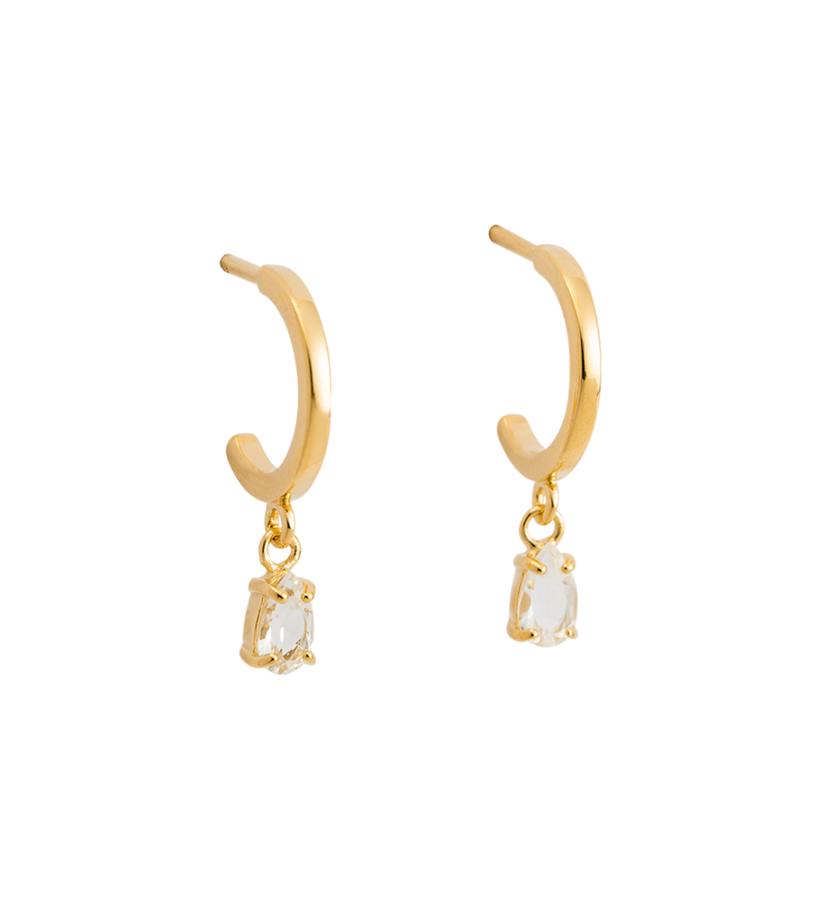 KIRSTIN ASH - TEARDROP HOOPS (18K-GOLD-PLATED)
