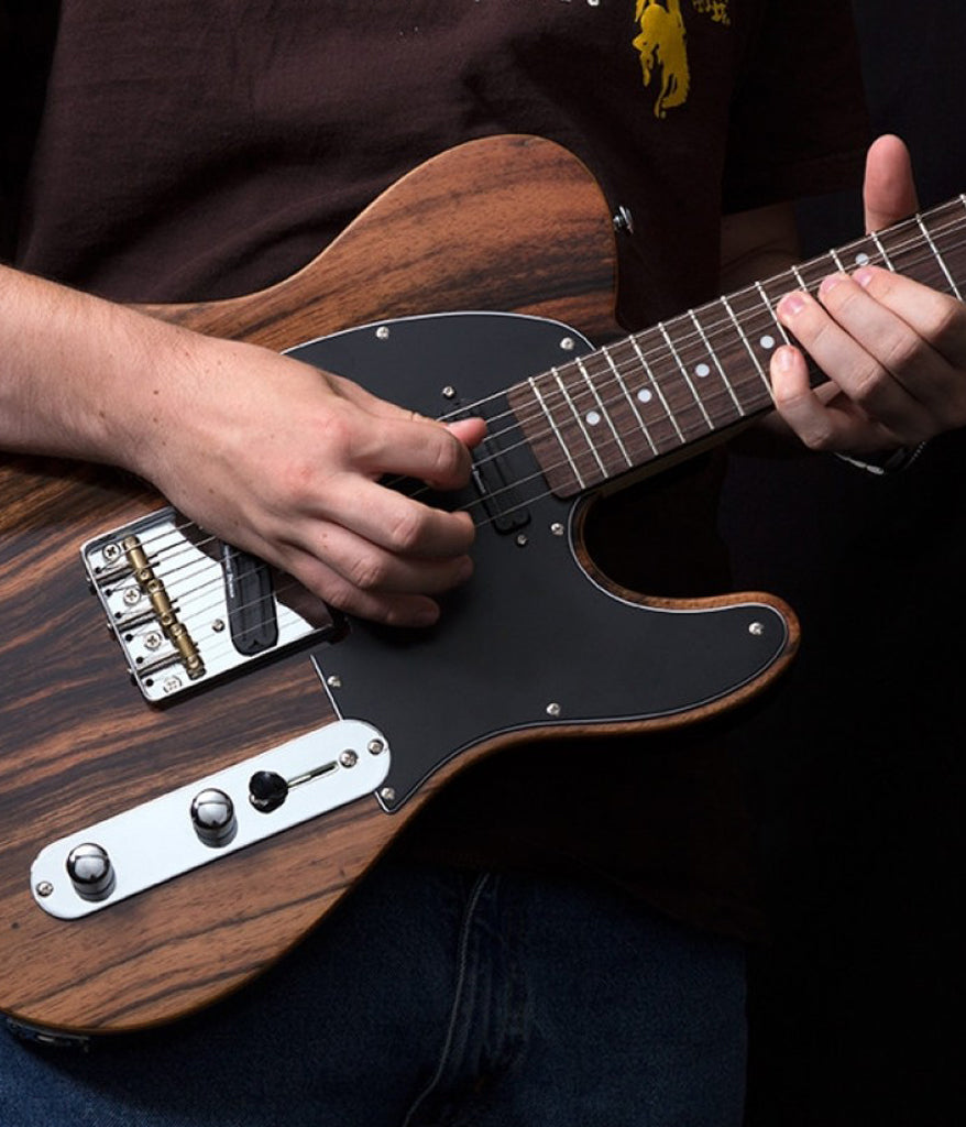 CC50 Deluxe Electric Guitar in Striped Ebony