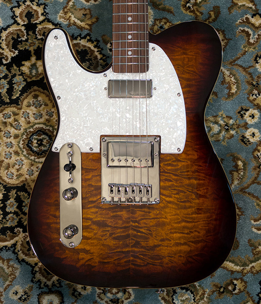 Michael Kelly Guitars Enlightened 55 Lefty in Dark Tiger's Eye