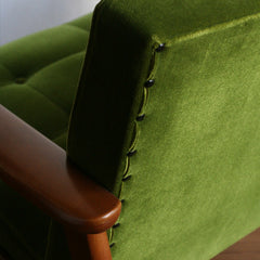 Karimoku60 - k chair one seater moquette green - Armchair