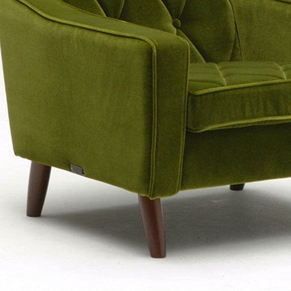 lobby chair one seater moquette green
