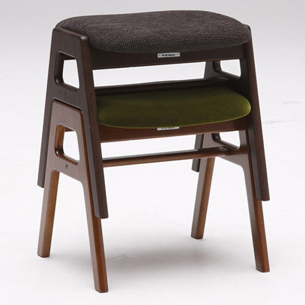 stacking stool moquette green