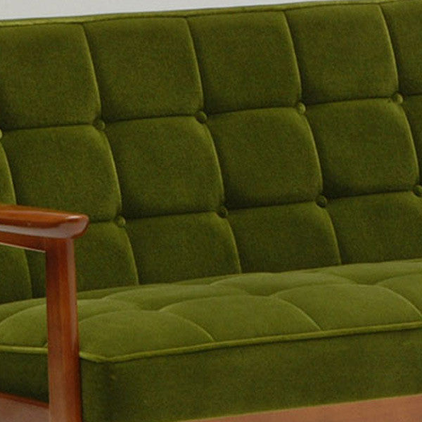 k chair two seater moquette green