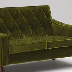 lobby chair two seater moquette green