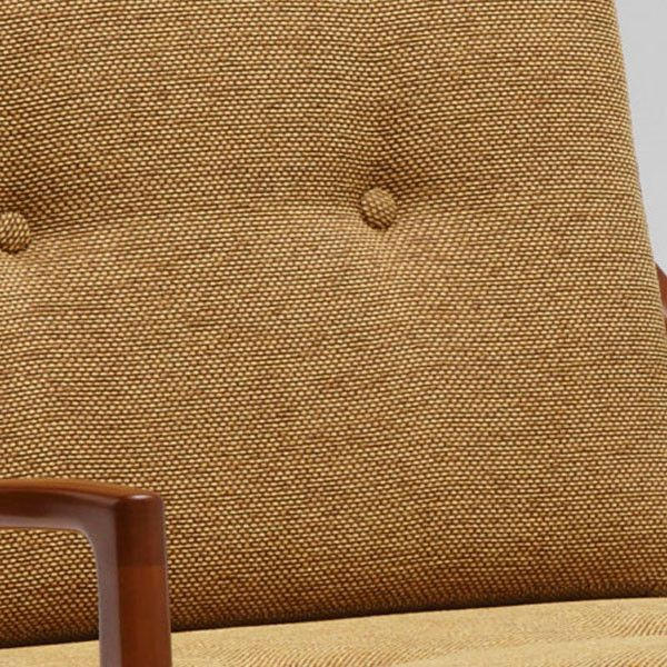 frame chair one seater mustard yellow