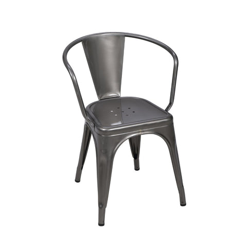 A56 Armchair stainless steel - Dining-Chair - TOLIX