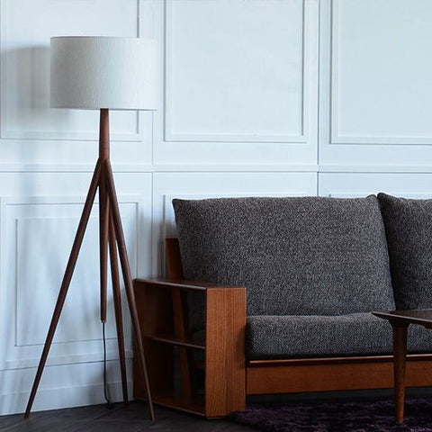 Nissin - ACCENT Floor Lamp walnut