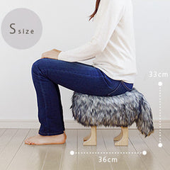 Takumi Kohgei - Animal Stool_Wolf Gray S - Stool