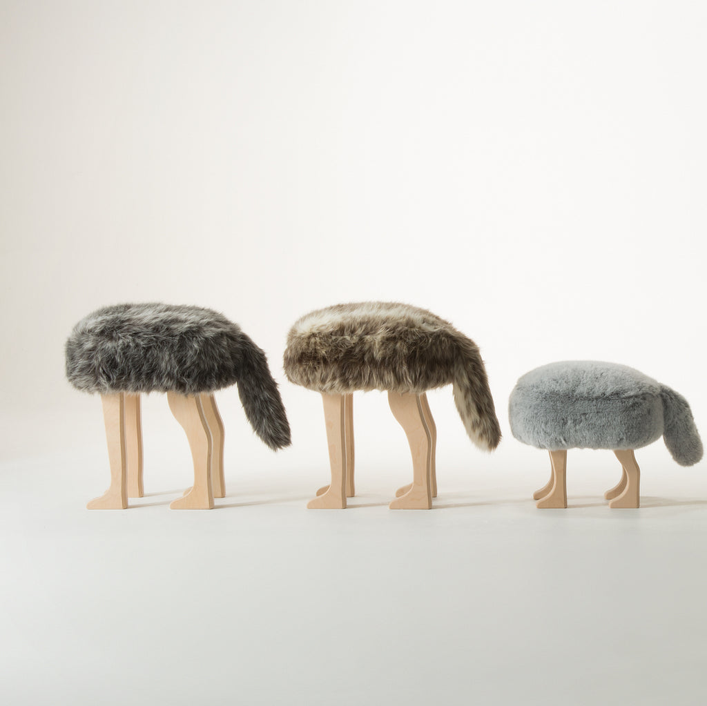 Animal Stool_Coyote Brown L