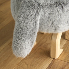 Takumi Kohgei - Animal Stool_Fox Gray - Stool