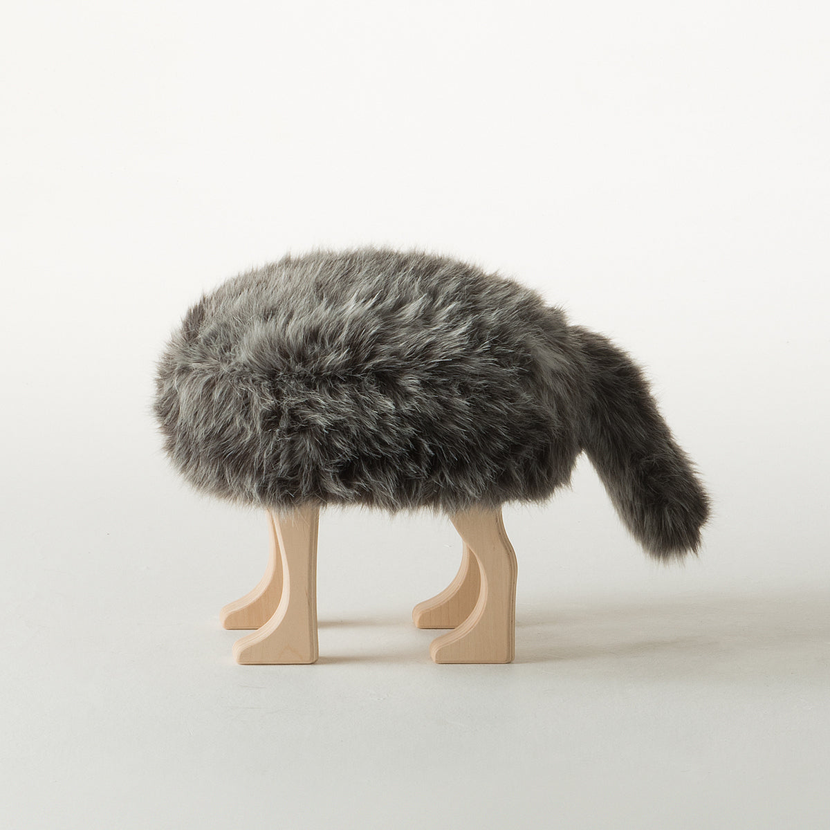 Animal Stool_Wolf Gray S