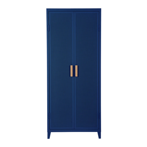 READY TO GO - READY TO GO | B2 Locker Wardrobe Perforated Myrtille - Cabinet