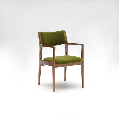 Karimoku60 - dining chair moquette green - Dining Chair