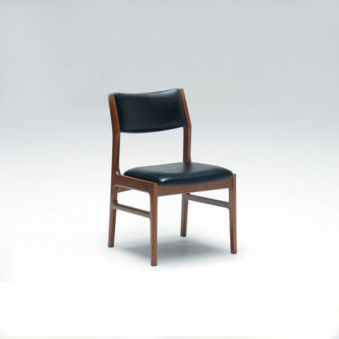 armless dining chair standard black