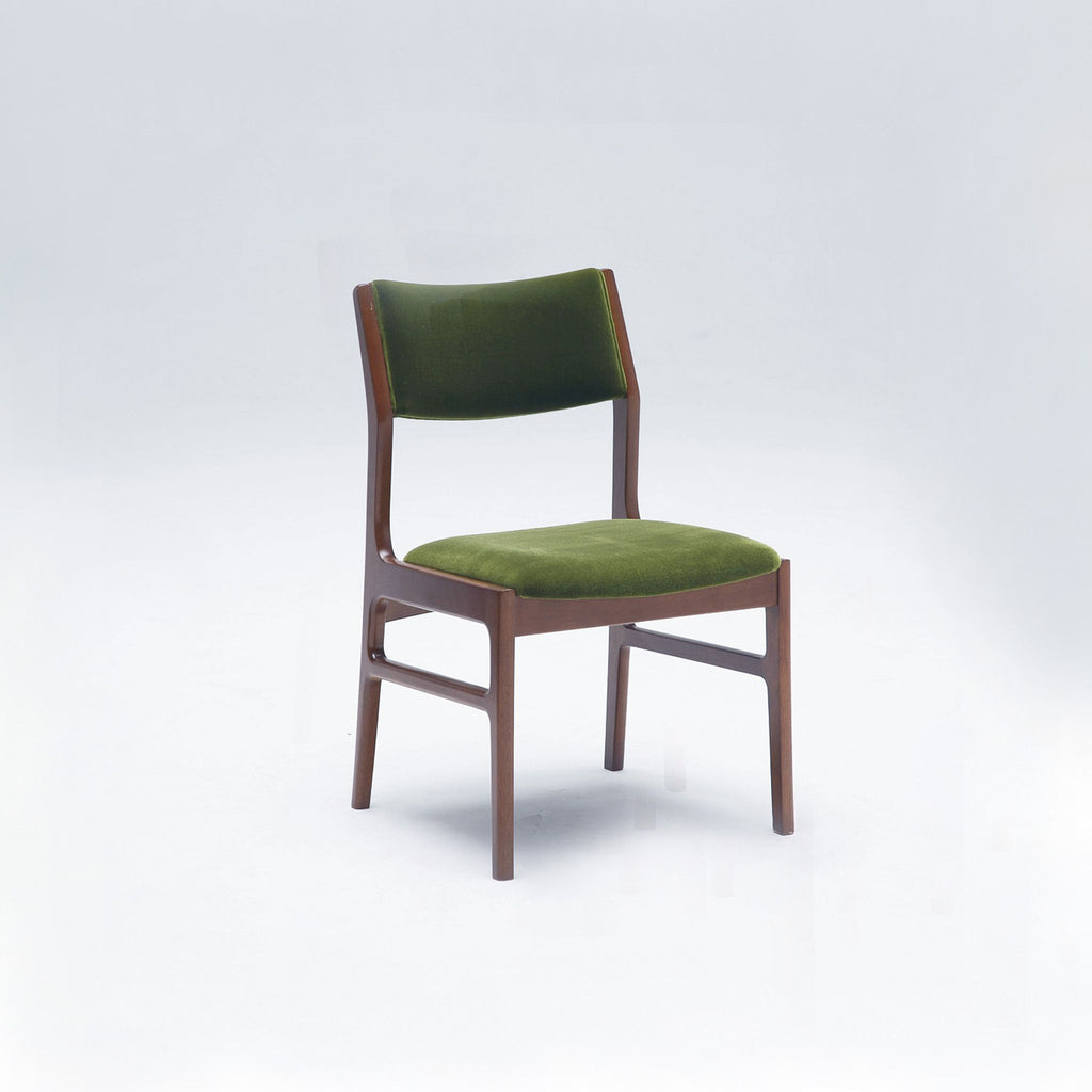 Karimoku60 - armless dining chair moquette green