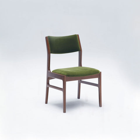 armless dining chair moquette green