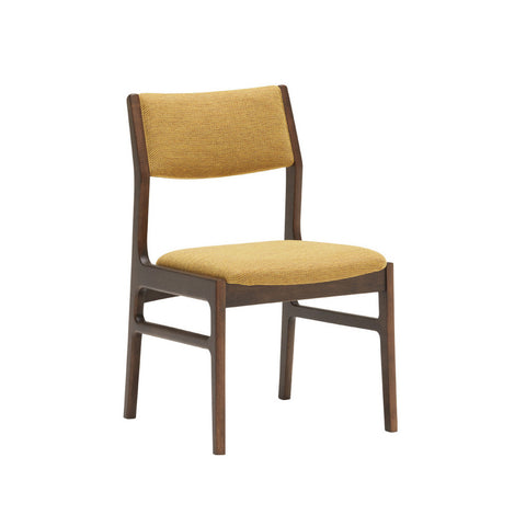 armless dining chair mustard yellow