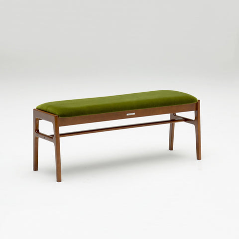 Karimoku60 - bench moquette green - Bench