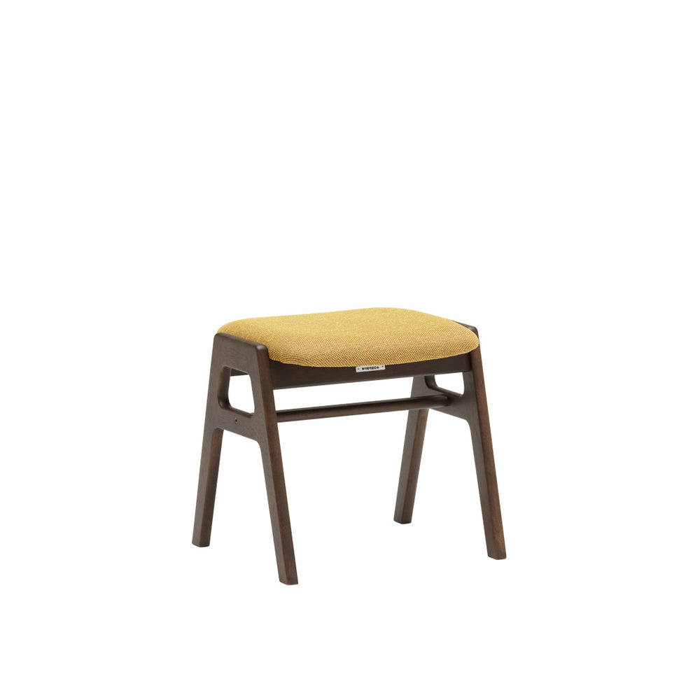 stacking stool mustard yellow