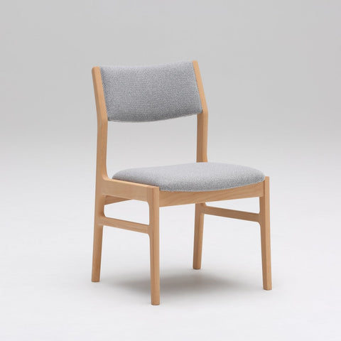 armless dining chair mist gray
