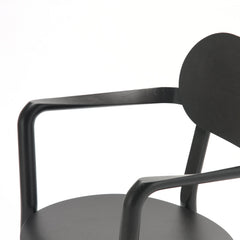 Karimoku New Standard - CASTOR ARM CHAIR black - Dining Chair