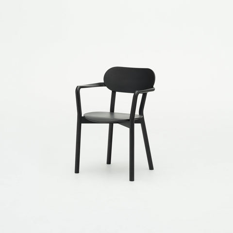 Karimoku New Standard - CASTOR ARM CHAIR black