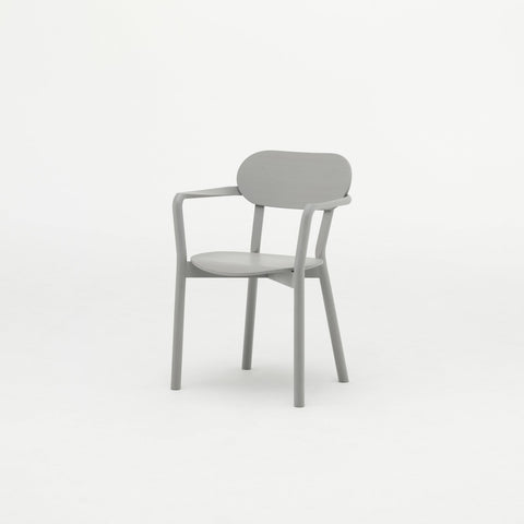 Karimoku New Standard - CASTOR ARM CHAIR grain gray