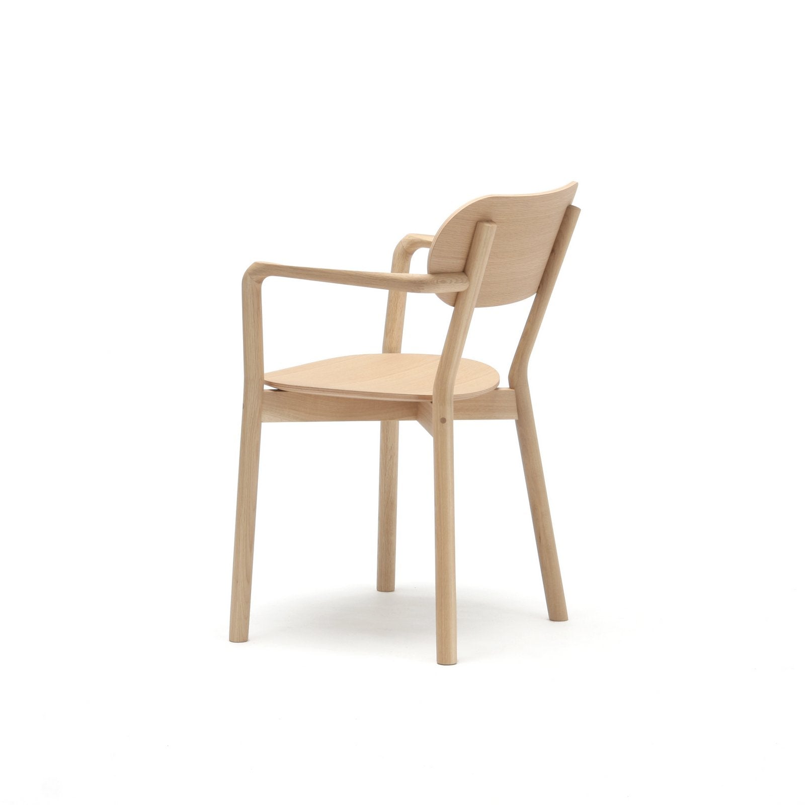 CASTOR ARM CHAIR oak