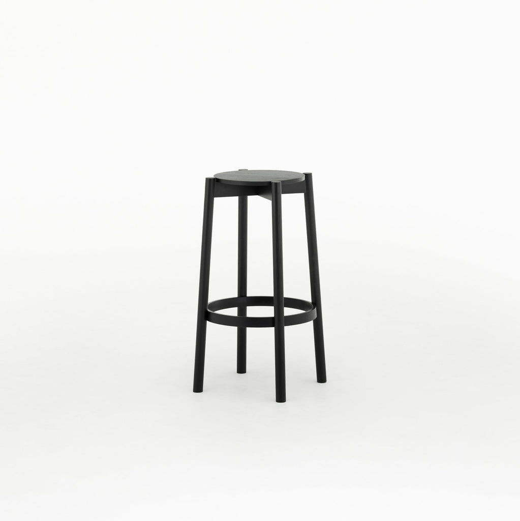 Karimoku New Standard - CASTOR BAR STOOL HIGH black - Stool