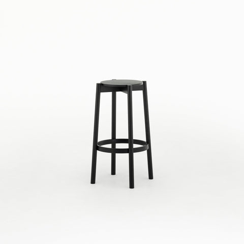 Karimoku New Standard - CASTOR BAR STOOL HIGH black