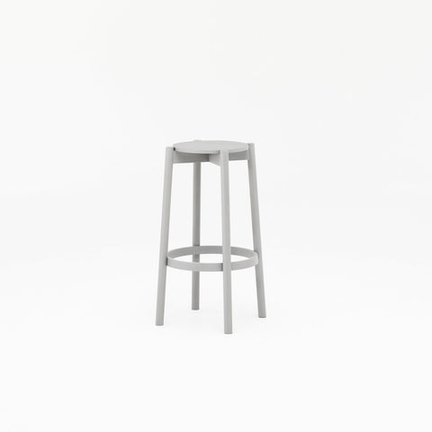 Karimoku New Standard - CASTOR BAR STOOL HIGH grey