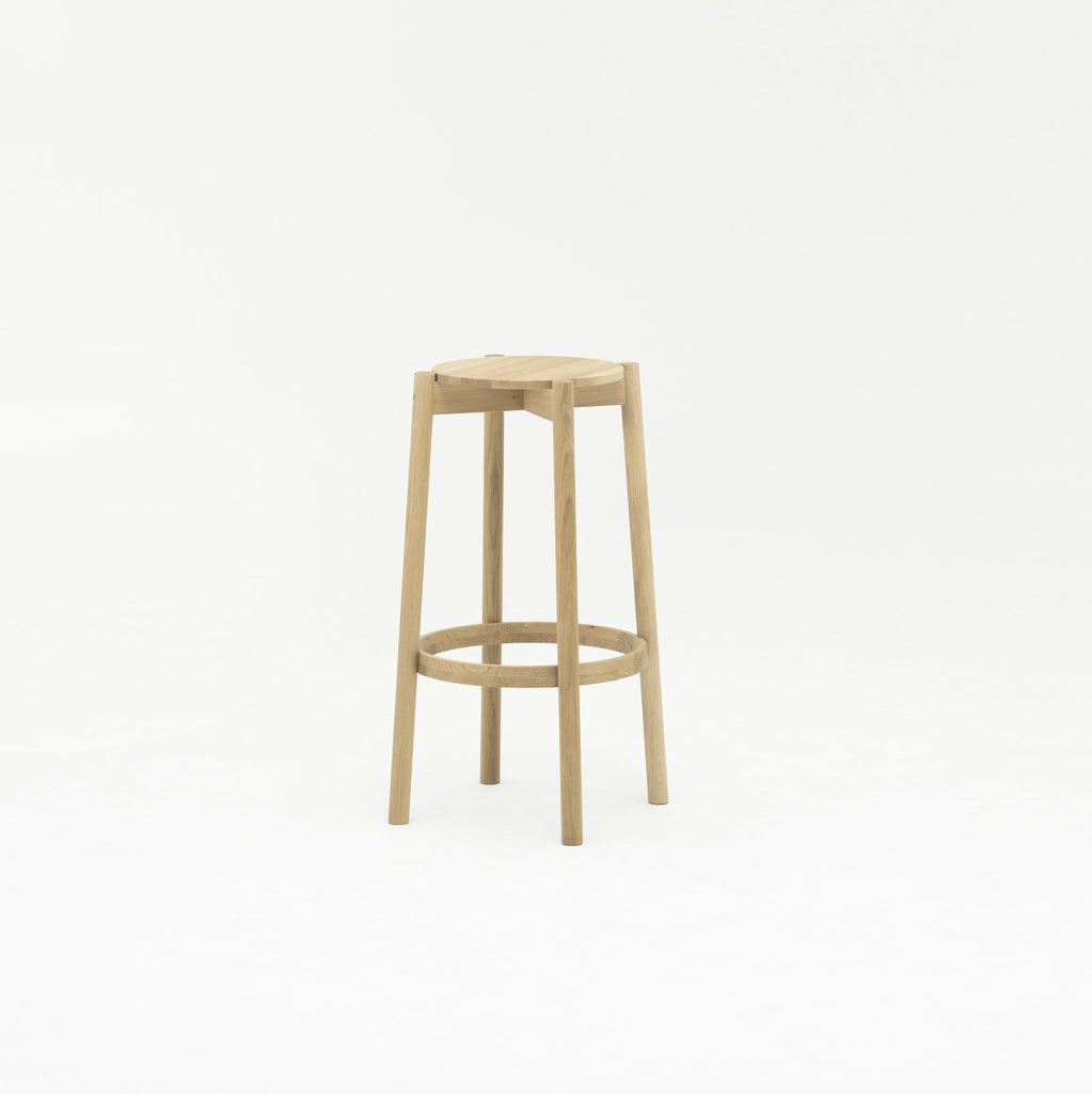 CASTOR BAR STOOL HIGH oak - Stool - Karimoku New Standard
