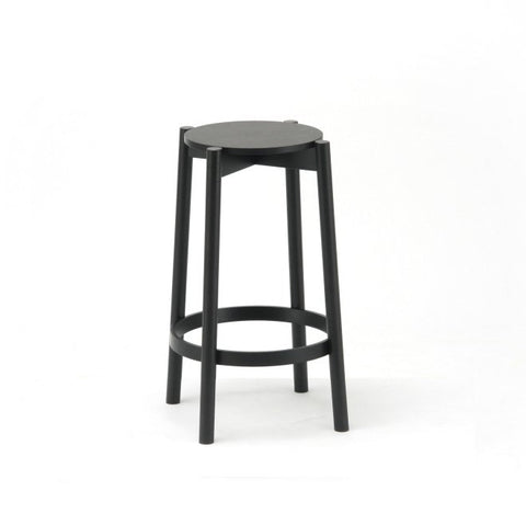 Karimoku New Standard - CASTOR BAR STOOL LOW black - Stool