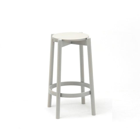 Karimoku New Standard - CASTOR BAR STOOL LOW grey - Stool