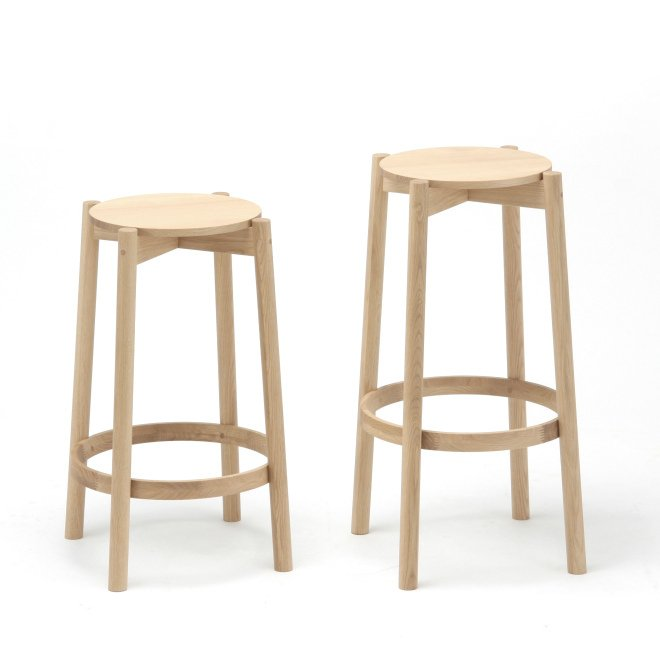 Karimoku New Standard - CASTOR BAR STOOL LOW oak - Stool