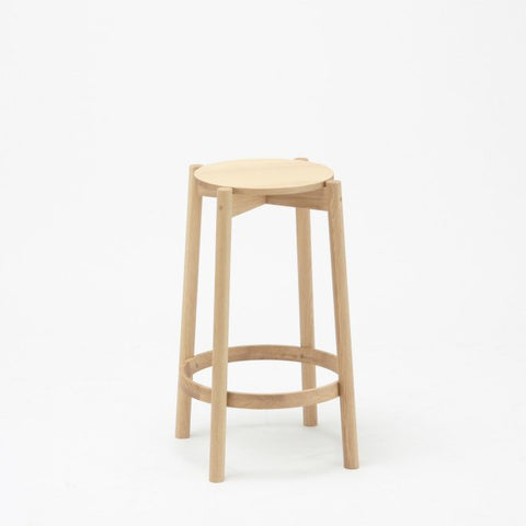 CASTOR BAR STOOL LOW oak - Stool - Karimoku New Standard